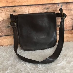 Vintage Coach Brown Leather Crossbody Bag 449-3327